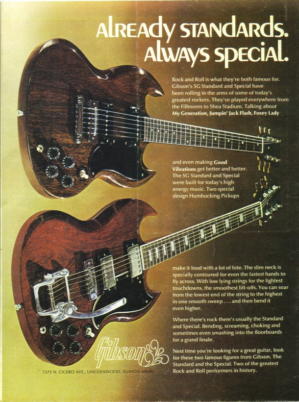 Back cover Gibson ad